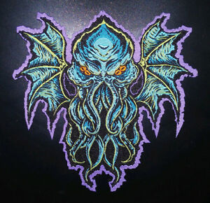 PATCH - Cthulhu - HORROR / Monster, Woven patch - H.P. Lovecraft,iron-on die cut