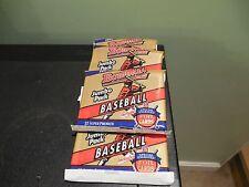 1993 Bowman Baseball (4) Jumbo packs, Derek Jeter,Pettitte RC, Mo 2nd, Box Fresh