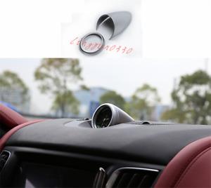 For Maserati Levante 2016-2021 2PCS Silver Dashboard Clock Decorative Cover Trim