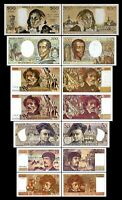 2x 10,20,50,100,100,200,500 Francs - Issue 1968 - 1997 - Reproduction - 02