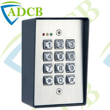 EXTERNAL DIGITAL CODED ACCESS KEYPAD STAINLESS STEEL FRONT PANEL SURFACE MOUNT