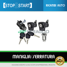 KIT SERRATURE PORTE DX SX + COFANO + CILINDRETTO + 4 CHIAVI FIAT PANDA 85/104
