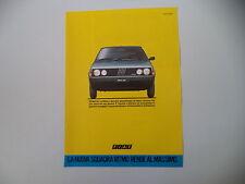 advertising Pubblicità 1984 FIAT RITMO ES