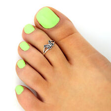 toe ring memory toe ring T129 Sterling Silver Butterfly Toe Ring Adjustable