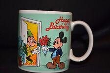 Disney Birthday Mickey and Minnie Mouse 12 Oz. Tea Coco Coffee Mug Cup Vtg 1987