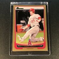 MIKE TROUT 2012 BOWMAN #34 GOLD PARALLEL CARD ANGELS MLB