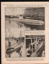 WWI Submarine Sous-Marin U-B Torpedo Torpille/Albert Belgique 1916 ILLUSTRATION