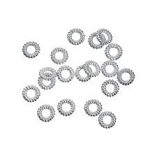 LOT de 150 PERLES INTERCALAIRES ANNEAUX RONDELLES 5mm ARGENTE SANS NICKEL bijoux