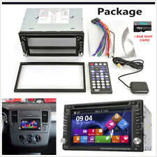 "6.2"" 2 DIN Touch Screen Car CD DVD Player Stereo Radio GPS Navigation+Map Card"