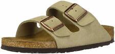 Men's Birkenstock Soft Footbed Sandal Arizona Taupe Suede Regular