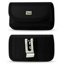 RUGGED POUCH with METAL BELT CLIP & VELCRO FLAP for BOOST MOBILE DuraShock