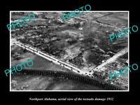 OLD LARGE HISTORIC PHOTO NORTHPORT ALABAMA AERIAL VIEW TORNADO DAMAGE c1932