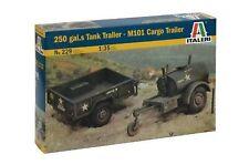 250 Gal.S Tank - M101 Cargo Trailer - Military Vehicles 1:35 - Italeri 229