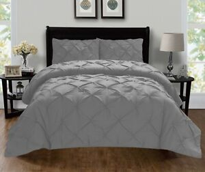 1500 Thread Count Egyptian Quality 3-Piece Pintuck Design Duvet Cover Set