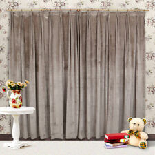 Velvet Unlined Panel Window Curtains
