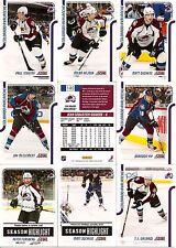 2011-12 Panini Score Glossy Colorado Avalanche Complete Master Team Set (17)