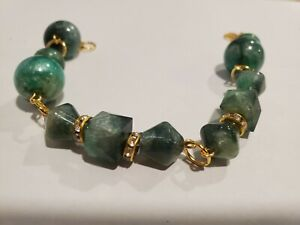Handmade Beaded Bracelet with Handcrafted Resin Beads by Artist Jared D. 6/21 #4