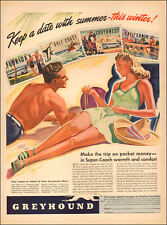 1950s vintage travel AD Take GREHOUND Bus Lines for warm winter vacations 122817