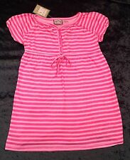NWT Juicy Couture New Girls Age 8 Pink Soft Cotton Puff Sleeve Summer Dress