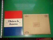 JD624 Vtg 1941 NBC I Believe in America Play Bill & Orig Envelope