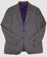$1220 Hickey Freeman Men's 38R Gray Fit Striped Blazer Suit Jacket Sport Coat