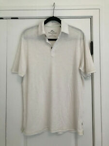 EUC Men's White TOMMY BAHAMA Polo Shirt Size M