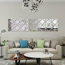 3d Mirror Geometric Hexagon Acrylic Wall Sticker Decor Art DIY 25 × 100cm