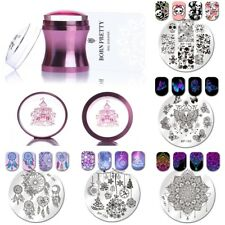 4BORN PRETTY 5Pcs Nail Art Stamping Plates+1Pc Stamper+1Pc Scraper Set Christmas