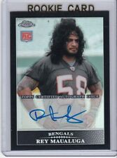 2009 TOPPS CHROME ROOKIE BLACK AUTO 2/25 REY MAUALUGA CARD #TC160