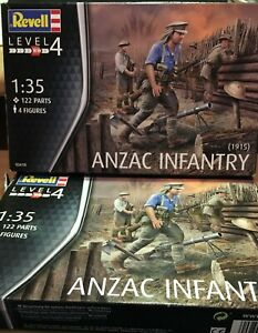 REVELL - 2 SETS OF ANZAC FIGURES IN 1/35 SCALE - BNIB