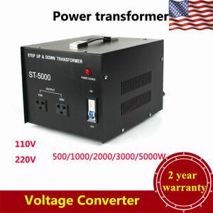 5000 Watt Voltage Converter Transformer 110V 220V Step Up and Down Heavy Duty US