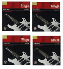 4x Satz Saiten E-Gitarre elektrische Gitarre 010-046 Seiten Stahl Nickel  EL1046