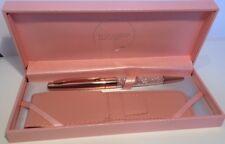 Maranda-Ti Rose Gold Swarovski Crystal Black Ink Ball Pen Gift For Ladies