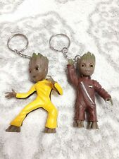 """Cute Funny 2"""" Guardians of the Galaxy 2 Baby Groot Keychains Figures"""