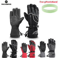 ROCKBROS Cycling Winter Gloves Ski Snow Windproof Waterproof Skiing Glove -30℃