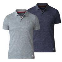 D555 Mens Pique Polo Shirt Short Sleeve Heavy Slub With Chest Pocket (DUNSTAN)