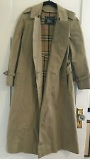 Vintage Burberry Trench Coat Nova Check Lining Size 8 Petite Buy It Now