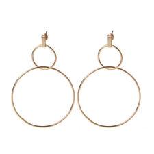 Statement Large Hoop Dangle Drop Earrings Women Double Round Circle Stud 1pc