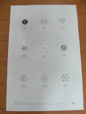 EXO - EX'ACT (Logo Ver.) [OFFICIAL] POSTER K-POP *NEW* Lucky One / Monster