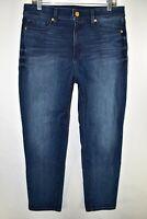 Spanx 5 Pocket Boyfriend Womens Jeans Stretch Size 31 Blue Meas. 33x28
