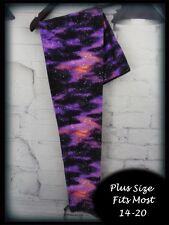 Purple Galaxy Plus Size Amazing Buttery Soft Leggings