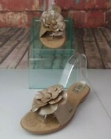 Boc Flower Slide Sandals Size 9 Leather
