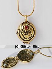 Vampire Diaries Elena Gilbert antique collier pendentif médaillon d'or Vervain