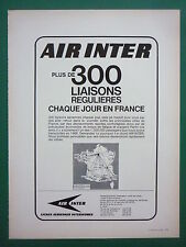 5/1967 PUB COMPAGNIE AERIENNE AIR INTER AIRLINE CARAVELLE  AIRLINER FRENCH AD