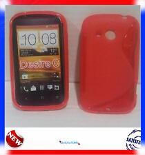 Pellicola+Custodia cover case WAVE ROSSO per HTC Desire C