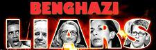 BENGHAZI LIARS Libya Government Anonymous Political Bumper Sticker #DFF443