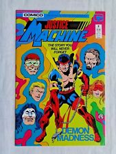 Justice League No. 8 August 1987 Comico The Comic Company First Print NM (9.4)