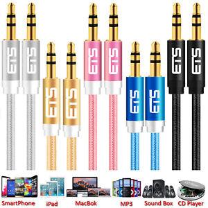 ®ETS 3M 3.5mm Jack Plug Male Audio Aux Cable Headphone Speakers MP3 Music iPod