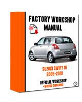 >> OFFICIAL WORKSHOP Manual Service Repair Suzuki Swift III 2005 - 2010