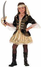 Girls Golden Seas Pirate Costume Buccaneer Caribbean Pirate Kids Size Small 4-6